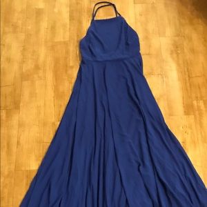 Long beautiful Royal Blue Dress